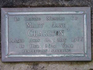 Cremation Plaques - Row A